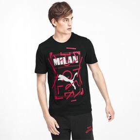 Thumbnail 1 of AC Milan DNA Men's Tee, Cotton Black-tango red, medium