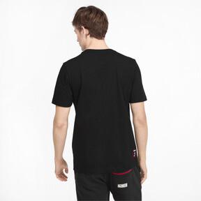 Thumbnail 2 of AC Milan DNA Men's Tee, Cotton Black-tango red, medium