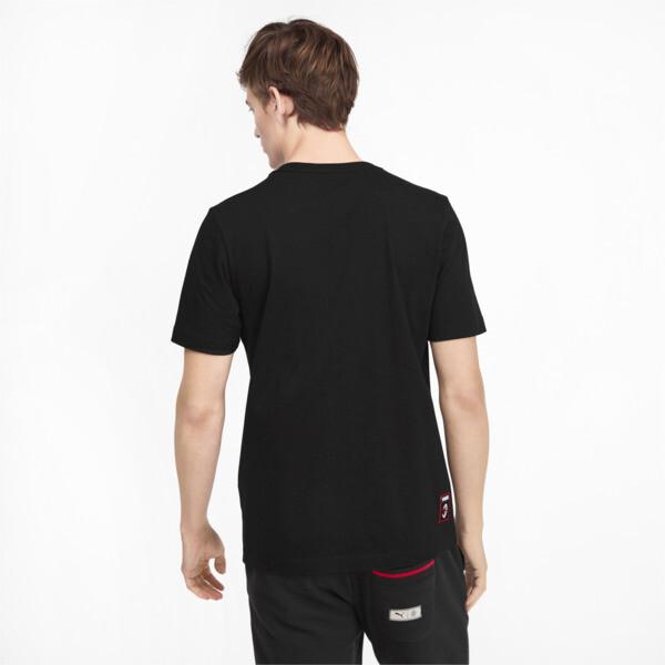 AC Milan DNA Men's Tee, Cotton Black-tango red, large