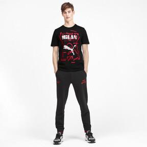 Thumbnail 3 of AC Milan DNA Men's Tee, Cotton Black-tango red, medium
