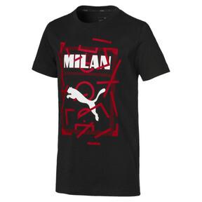 Thumbnail 1 of AC Milan DNA Kids' Tee, Cotton Black-tango red, medium