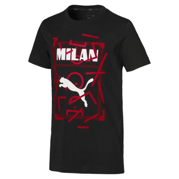 AC Milan DNA Kids' Tee, Cotton Black-tango red, large