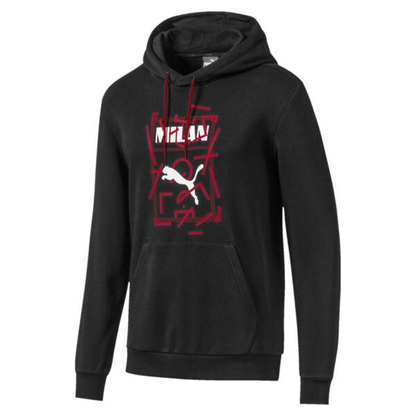 AC Milan DNA Men's Hoodie, Puma Black-Tango Red, large