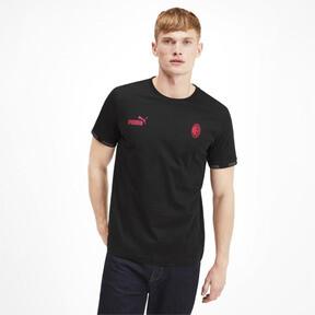 Thumbnail 1 of AC Milan FtblCulture Men's Tee, Cotton Black-tango red, medium