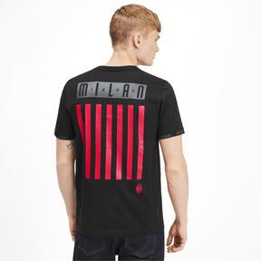 Thumbnail 2 of AC Milan FtblCulture Men's Tee, Cotton Black-tango red, medium
