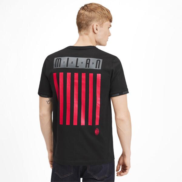AC Milan FtblCulture Men's Tee, Cotton Black-tango red, large
