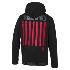 Thumbnail 5 of AC Milan FtblCulture Men's Hoodie, Puma Black-Tango Red, medium