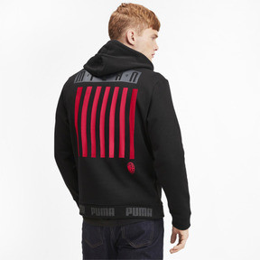 Thumbnail 2 of AC Milan FtblCulture Men's Hoodie, Puma Black-Tango Red, medium