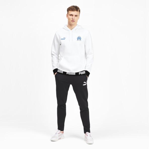 Olympique de Marseille Men's Football Culture Hoodie, Puma White, large