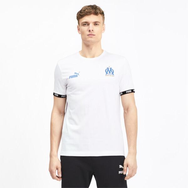 Olympique de Marseille FtblCulture Men's Tee, Puma White, large