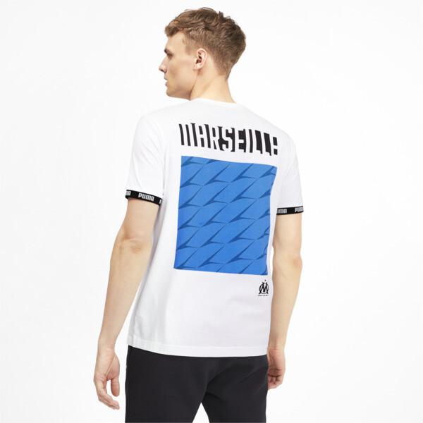 Olympique de Marseille voetbalcultuur-T-shirt voor mannen, Puma White, large