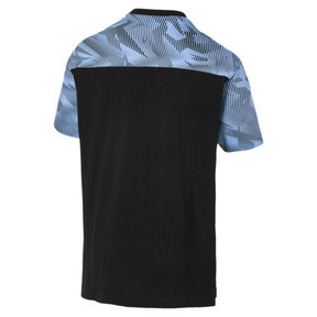 Thumbnail 2 of Manchester City Casuals Herren T-Shirt, Puma Black-Team Light Blue, medium