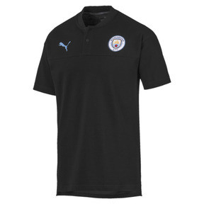 Thumbnail 1 of Polo Manchester City Casuals pour homme, Puma Black-Team Light Blue, medium