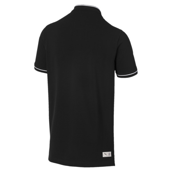 Manchester City FC Men's Premium Polo, Puma Black-team light blue, large