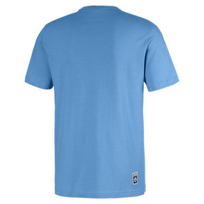 Thumbnail 2 of Essentials Short Sleeve Men's Tee, Team Light Blue-Puma white, medium
