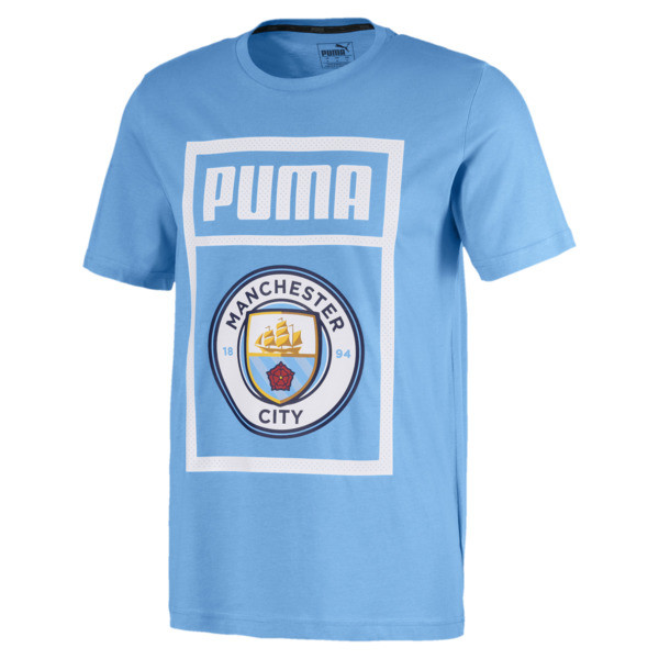 Essentials Short Sleeve Men's Tee, Team Light Blue-Puma white, large