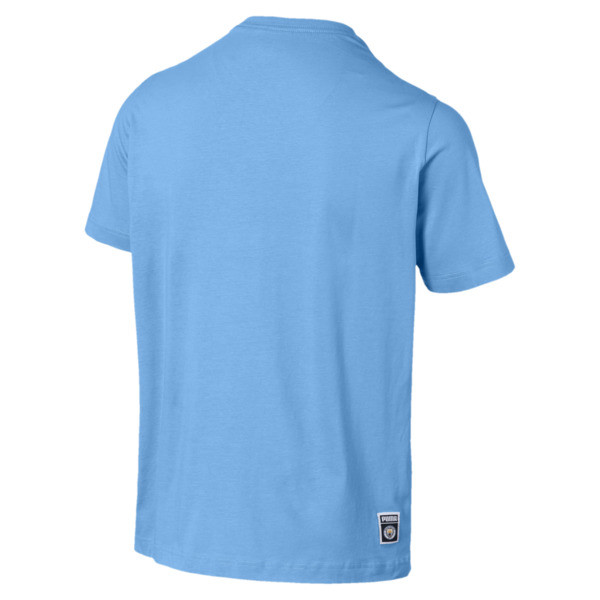 Manchester City FC Men's Graphic Tee, Team Light Blue, large