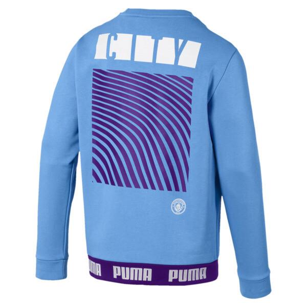 Manchester City FC FtblCulture Men's Sweatshirt, Team Light Blue-Puma White, large