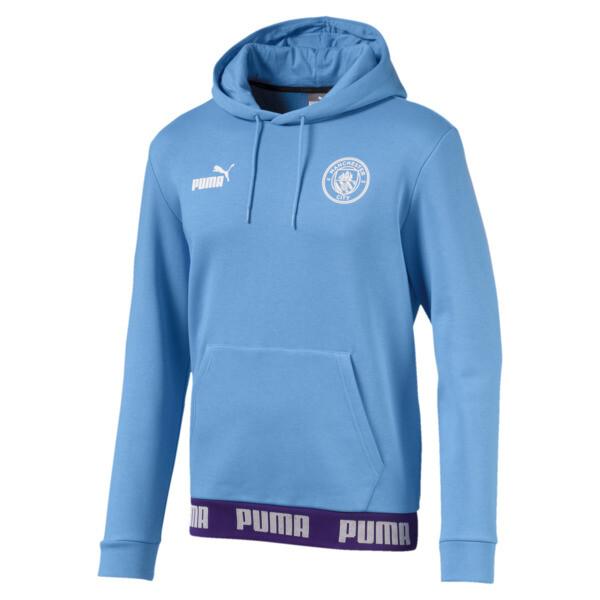 Sudadera con capucha Manchester City FC FtblCulture para hombre, Team Light Blue-Puma White, grande