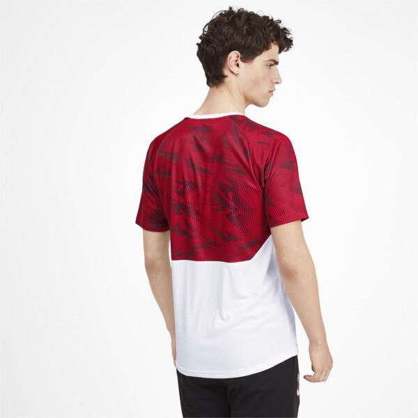 AC Milan Men's Training Jersey, Puma White-Tango Red, large