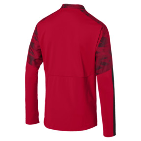 Thumbnail 5 of AC Milan Men's 1/4 Zip Top, Tango Red -Puma Black, medium