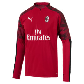 Thumbnail 4 of AC Milan Men's 1/4 Zip Top, Tango Red -Puma Black, medium
