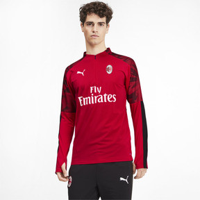 Thumbnail 1 of AC Milan Men's 1/4 Zip Top, Tango Red -Puma Black, medium