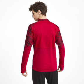 Thumbnail 2 of AC Milan Men's 1/4 Zip Top, Tango Red -Puma Black, medium