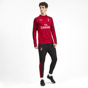 Thumbnail 3 of AC Milan Men's 1/4 Zip Top, Tango Red -Puma Black, medium