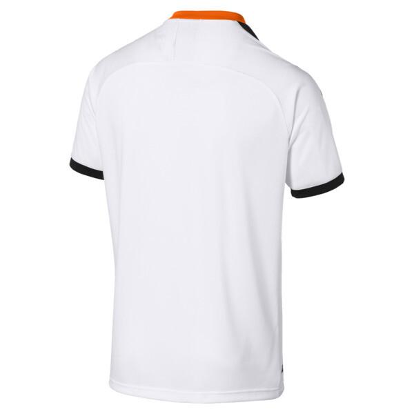 Camiseta de la primera equipación de réplica de hombre Valencia CF, White- Black-Vibrant Orange, grande