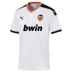 Imagen en miniatura 1 de Camiseta de la primera equipación de réplica de hombre Valencia CF, White- Black-Vibrant Orange, mediana