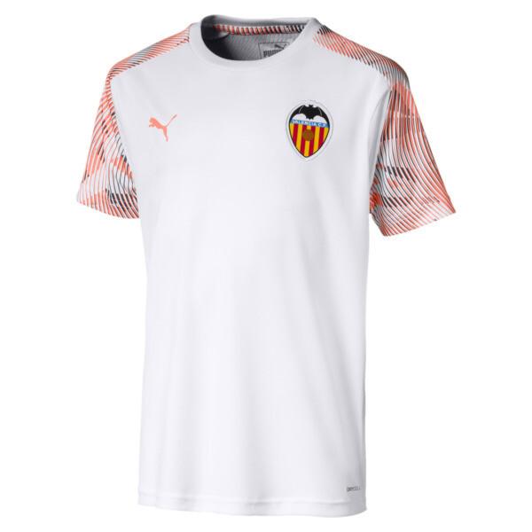 fe8f6573bce495 Dziecięca koszulka treningowa Valencia CF, Kolor Puma White-Fizzy Orange,  obszerny