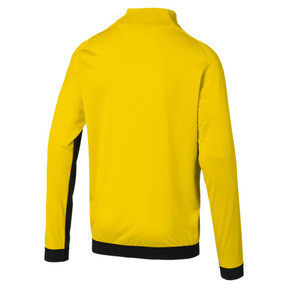 Thumbnail 2 of BVB Men's League Stadium Jacket, Cyber Yellow-Puma Black, medium