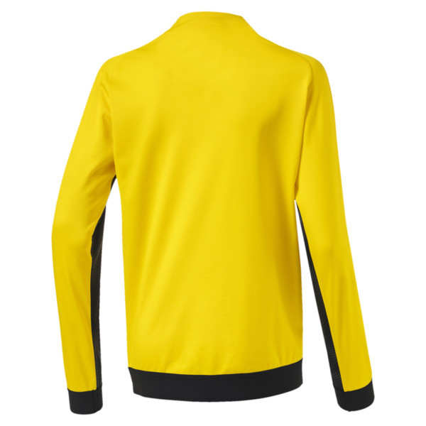 BVB League Kids' Stadium Jacket, Cyber Yellow-Puma Black, large