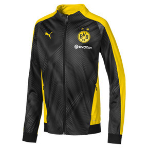 Thumbnail 1 of BVB League Kids' Stadium Jacket, Cyber Yellow-Puma Black, medium
