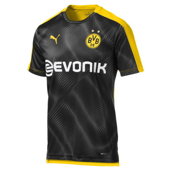BVB Men's Replica League Stadium Jersey, Cyber Yellow-Puma Black, large