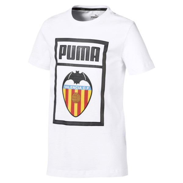 T-Shirt Valencia CF Shoe Tag pour enfant, Puma White, large