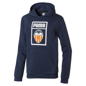 Thumbnail 1 of Valencia CF Shoe Tag Kids' Hoodie, Peacoat, medium
