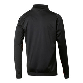 Thumbnail 2 of Valencia CF Men's Stadium Jacket, Puma Black-Vibrant Orange, medium