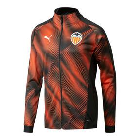 Thumbnail 1 of Valencia CF Men's Stadium Jacket, Puma Black-Vibrant Orange, medium