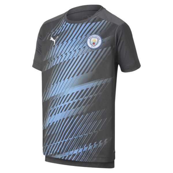 Puma Manchester City Fc Boys' League Stadium Jersey Jr In Asphalt Grey, Size Xl