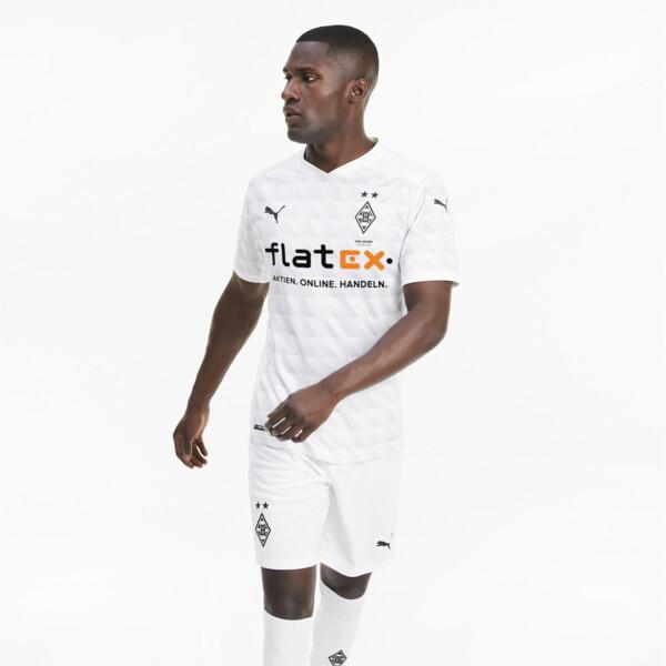 Puma Bmg Men's Home Replica Soccer Jersey In White/Grey/Violet, Size L