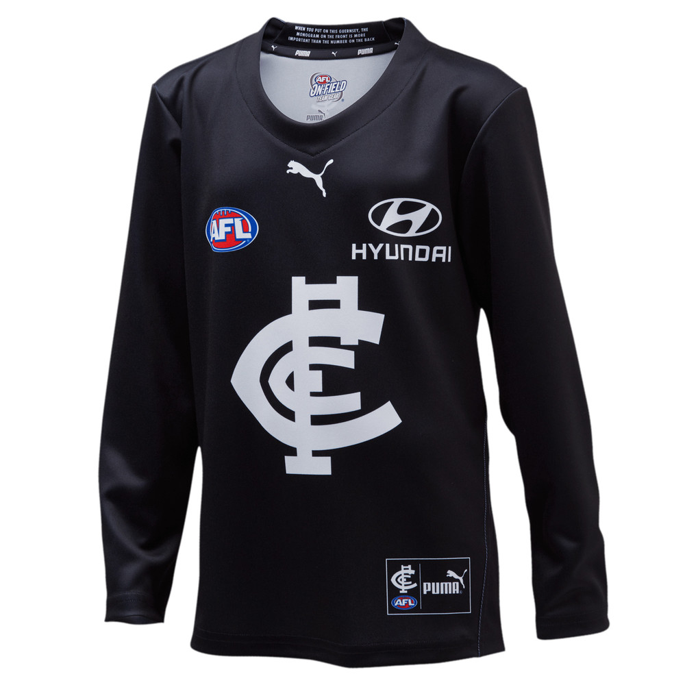 Image PUMA Carlton Football Club Youth's Long Sleeve Replica Home Guernsey #1