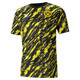 BVB Iconic MCS Graphic Men's Football Tee, Puma Black-Cyber Yellow, small