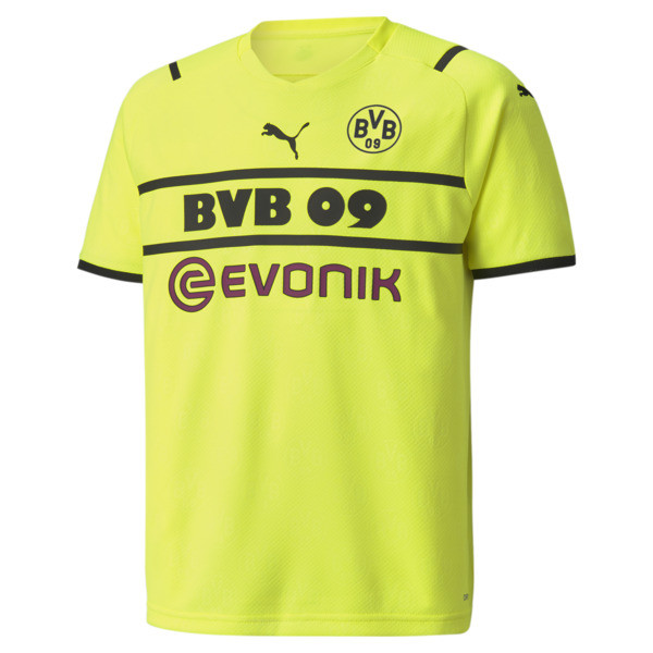 PUMA BVB Cup Replica Soccer Jersey JR in Yellow, Size 6