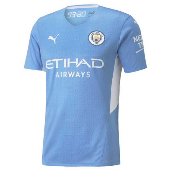 puma manchester city home authentic men's jersey in team light blue/white, size s