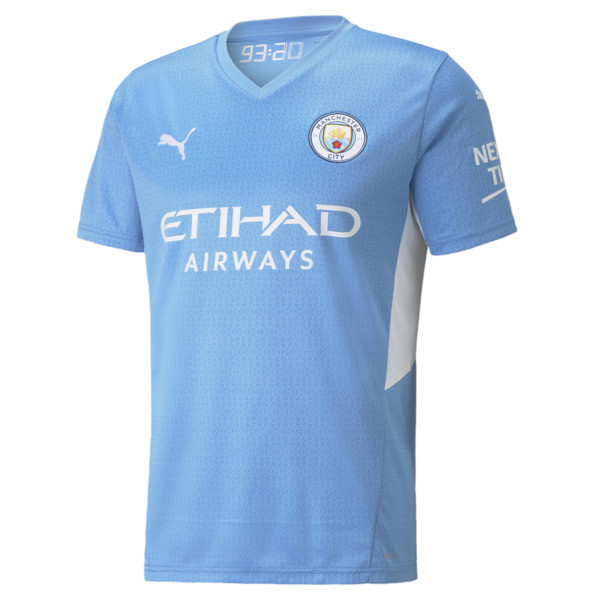 puma manchester city home replica men's jersey in team light blue/white, size s