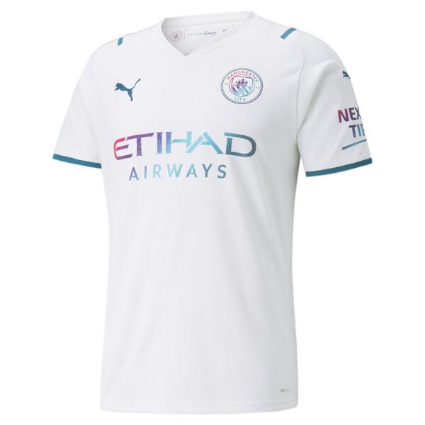 puma manchester city away replica men's jersey in aquamarine, size s