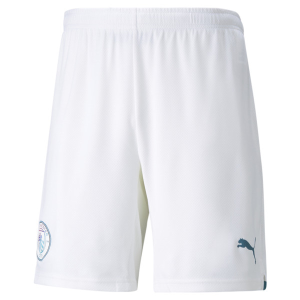 puma manchester city replica men's soccer shorts in aquamarine, size s