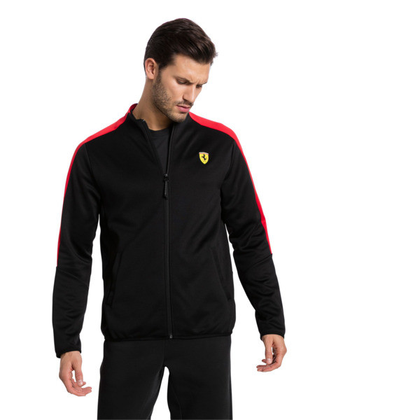 Ferrari Herren T7 Trainingsjacke, Puma Black, large